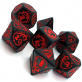 Black & Red Dragons Dice Set